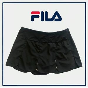 Fila Women's Heritage Scalloped Hem Skort Black